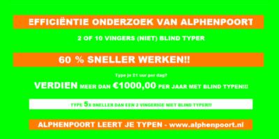alphenpoort |typecursus | 2012 efficiëntie onderzoek