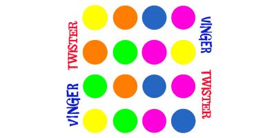 Alphenpoort | typecursus | spel game vinger twister