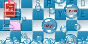 Alphenpoort | typecursus | spel game Bubble bad