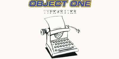 Alphenpoort | typecursus | object one typewriter