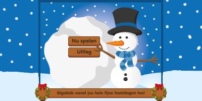 Alphenpoort | typecursus | spel game gigakids kerstwens | sneeuwvlokken scoren
