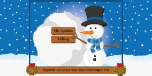 Alphenpoort | typecursus | spel game gigakids kerstwens | sneeuwballen vangen